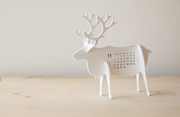 おしゃれな小さな動物園カレンダー2017年版