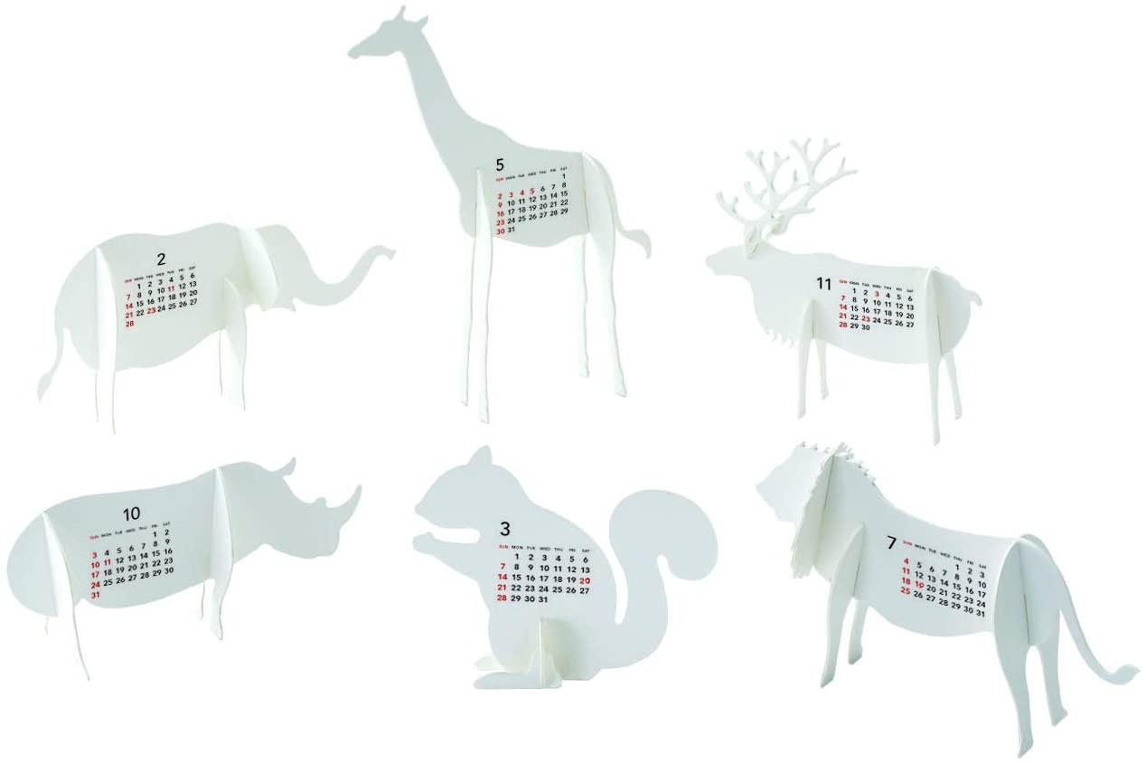 おしゃれな小さな動物園カレンダー2021年版