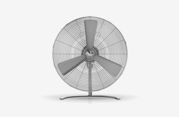レトロでシンプルな、おしゃれな扇風機