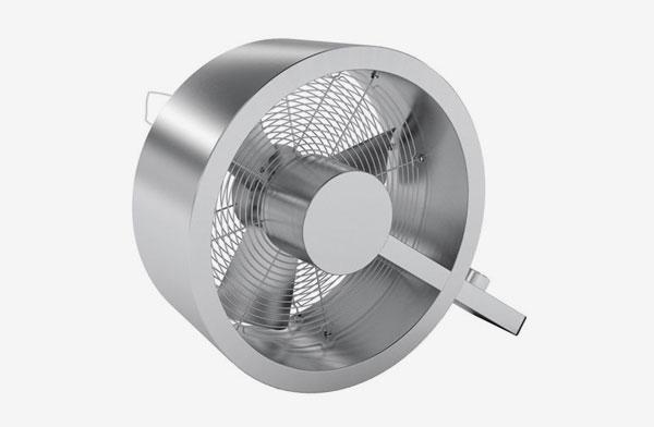 ステンレスフレームのデザインがかっこいい、おしゃれな扇風機