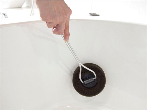 オブジェのようなモダンなデザインの、おしゃれなお風呂掃除用スポンジ