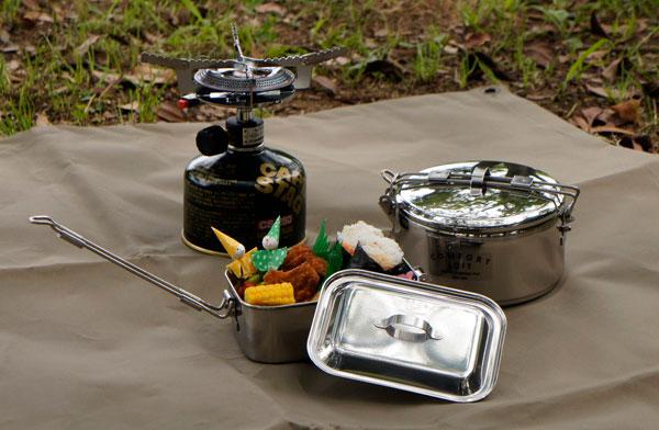 鍋としても使える、アウトドアにオススメのおしゃれなお弁当箱
