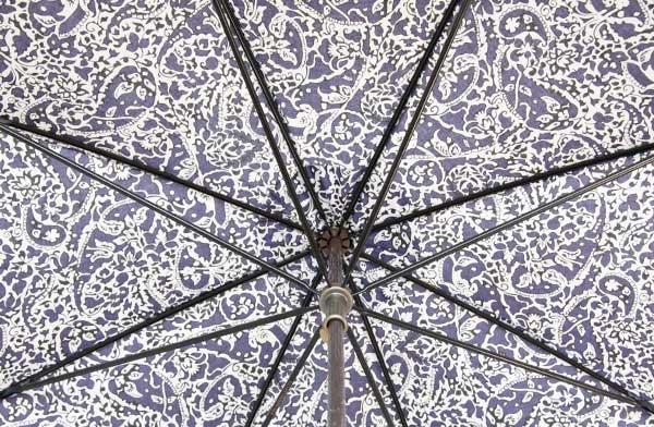 シックなペイズリー柄の、おしゃれなレディース用長傘