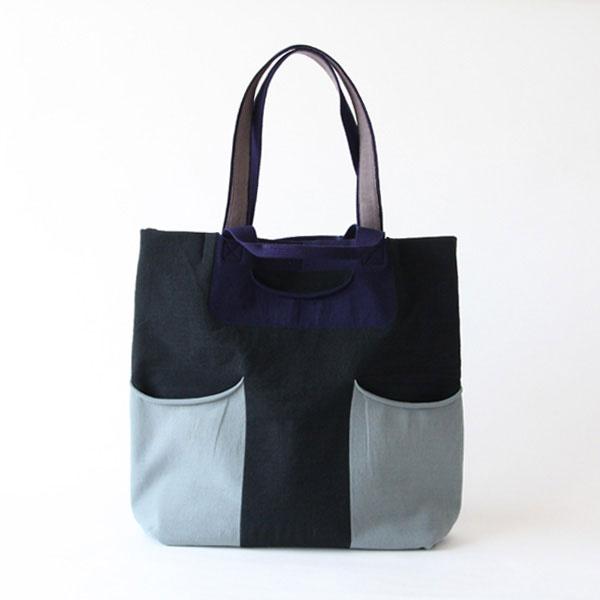 リバーシブルにも使える、おしゃれなバッグ