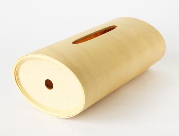 曲線のフォルムが美しい、おしゃれな木製ティッシュボックスケース