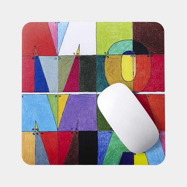 幾何学模様が美しい、おしゃれなマウスパッド