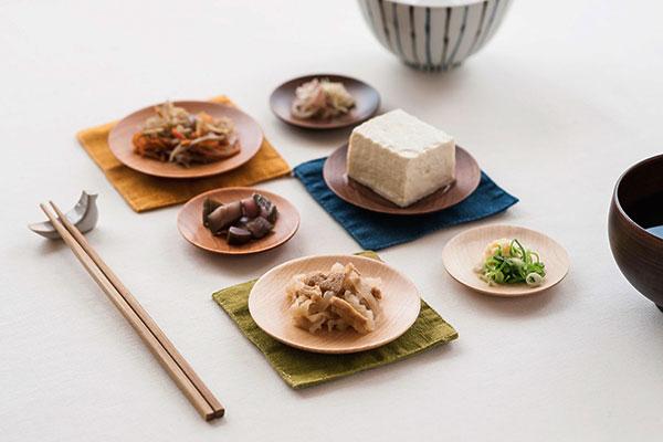 おしゃれな木の豆皿