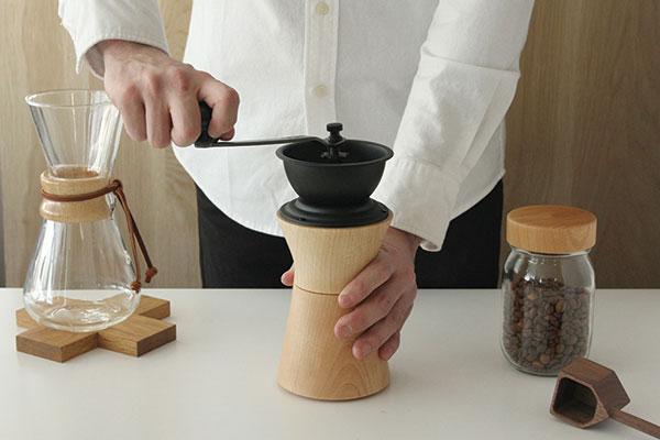 機能性と見た目の美しさにこだわった、おしゃれなコーヒーミル