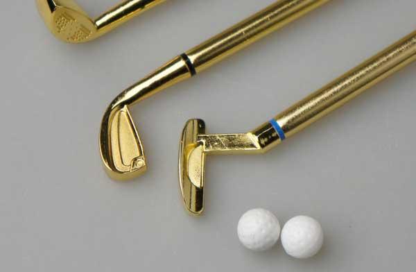 ゴルフクラブの形になった、おしゃれなペンセット