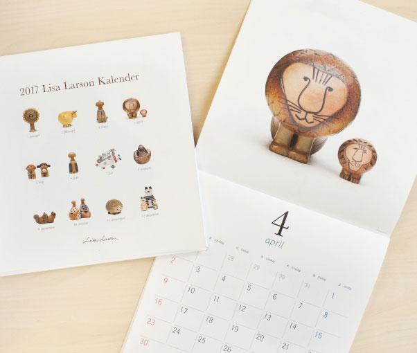 おしゃれなリサ・ラーソンの「陶器」カレンダー2017年版