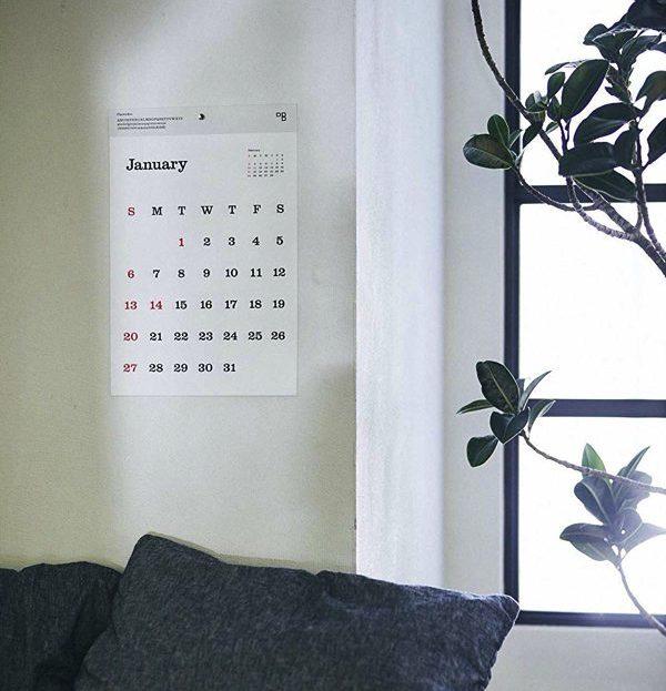 見やすく美しい、おしゃれな壁掛けタイプフェイスカレンダー2019年版