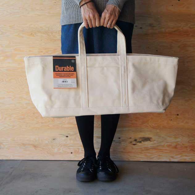 フランスパンや大根などの買い物に便利な、おしゃれな長いトートバッグ