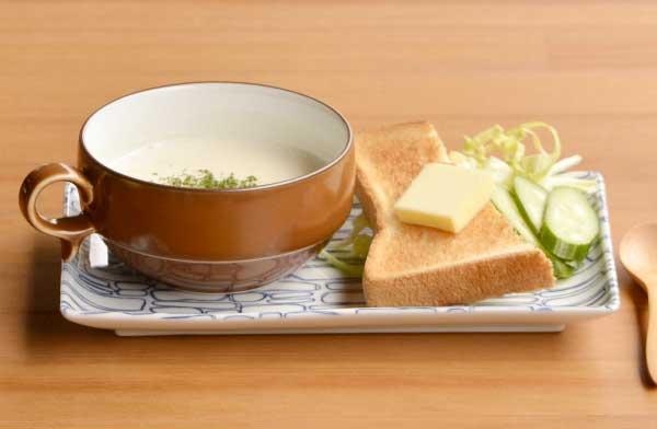 熱さが伝わりにく持ちやすい、おしゃれなスープボール