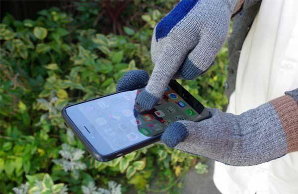 スマホやタブレットも操作できる、おしゃれな3つに分かれた指先の手袋