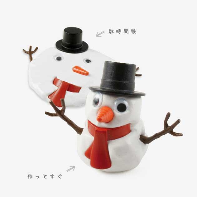 本物の雪だるまのように溶けてしまう、おしゃれな雪だるまのオブジェ