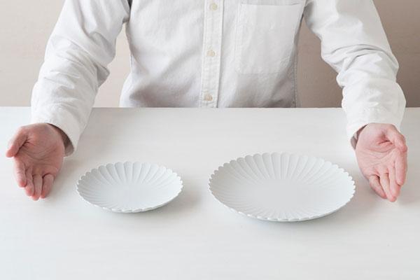 上品に料理を引き立ててくれる、おしゃれな有田焼のラウンドプレート