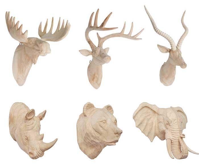 インテリアのアクセントにおすすめの、おしゃれな木彫りのアニマルオブジェ