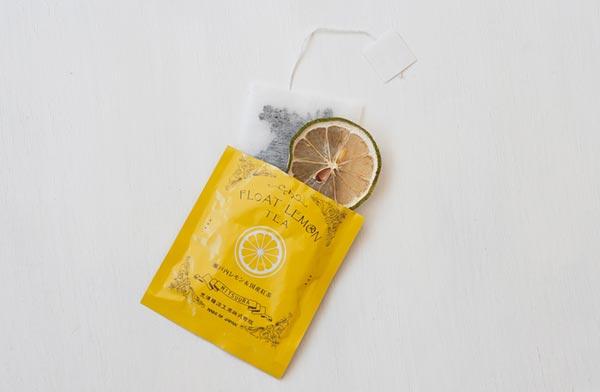 ギフトにおすすめ、乾燥輪切りレモンが入ったおしゃれなティーパック