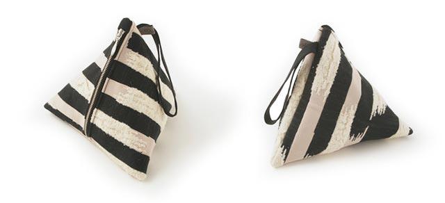 テトラパックの独特のデザインが目をひく、おしゃれなポーチ
