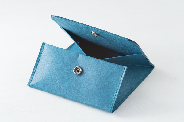すぐに開き、見やすいスナップ付きの、おしゃれな和紙のコインケース
