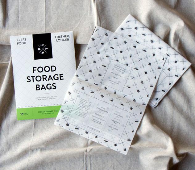 食品の新鮮さを長く保つ、おしゃれな新素材の食品保存用袋