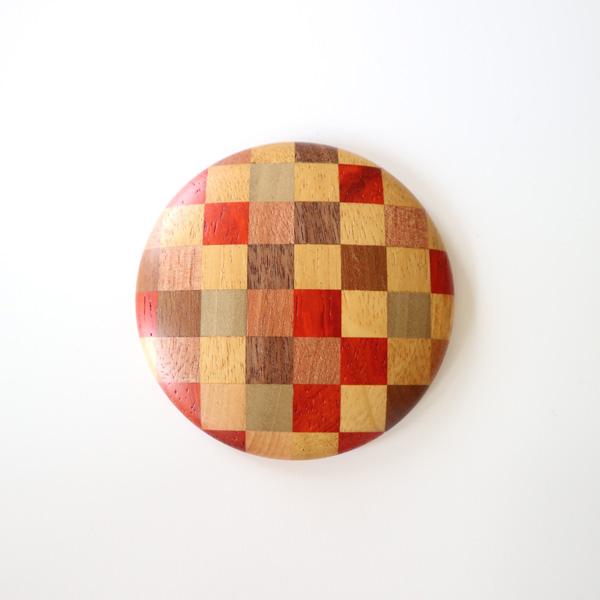 いつも持ち歩きたい、箱根細工のおしゃれな丸い手鏡