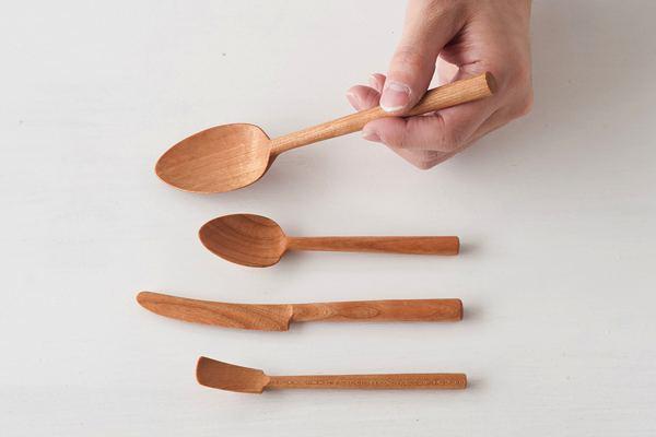 食器を傷つけないソフトな使い心地の、おしゃれな木製カトラリー