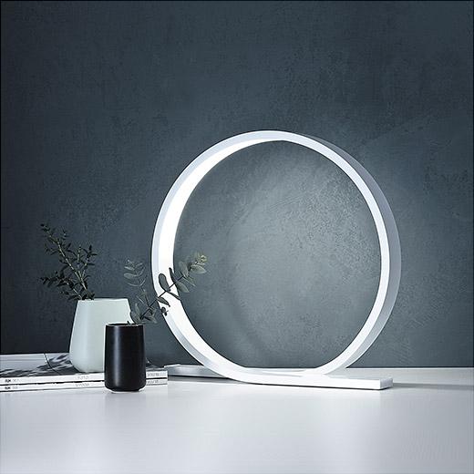ループ状のデザインが美しい、おしゃれな北欧のテーブルライト
