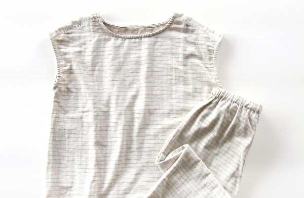 夏に着たい!オーガニックコットンのガーゼ生地が心地よい、おしゃれなサマーパジャマ