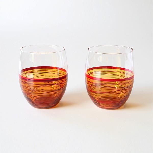 重なる塗りの質感が心地良い手触りの、おしゃれなグラス