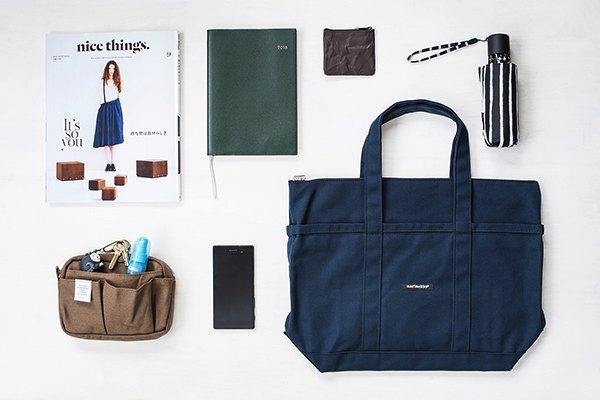 小さくてもしっかり入る、機能性に優れたおしゃれなミニトートバッグ