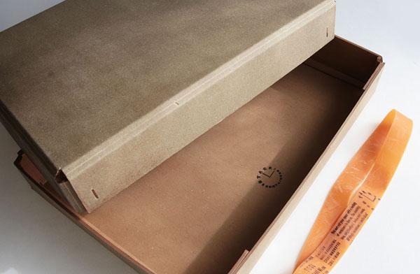 柿渋を塗布したアンティーク風のおしゃれで丈夫な紙箱