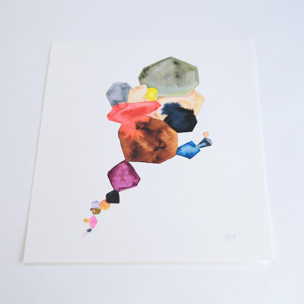 色使いが美しい、おしゃれなオリジナルアートのプリント
