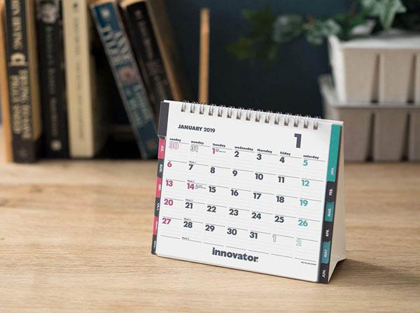 北欧で40年に渡るロングセラーの、おしゃれな卓上カレンダー2019年版