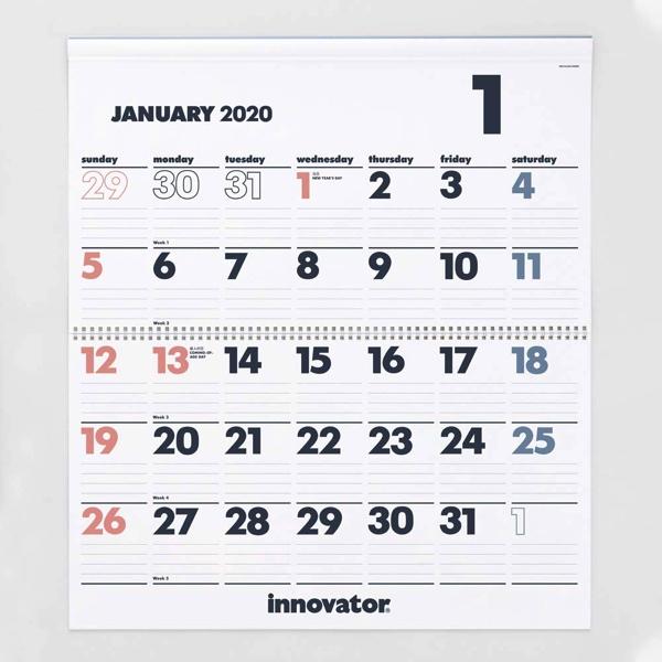 北欧で定番として愛され続ける、見やすくおしゃれな壁掛けカレンダー2020年版