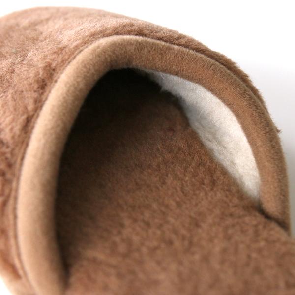 天然メリノウールをたっぷり使用した、暖かくおしゃれなスリッパ