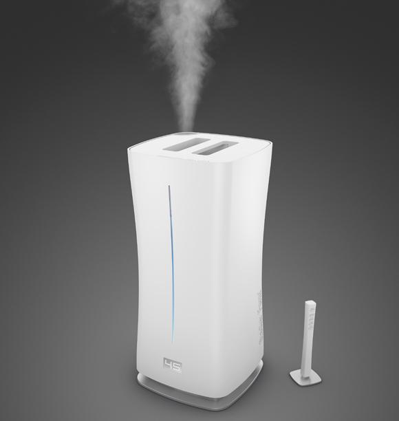 リモートセンサーでお部屋全体を管理し加湿する、おしゃれな加湿器