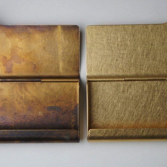 真鍮の風合いが美しい、おしゃれな大人のペンケース