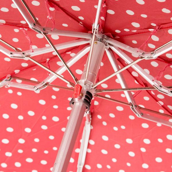グッドデザイン賞を受賞した、パッと華やかな水玉模様のおしゃれな折りたたみ傘