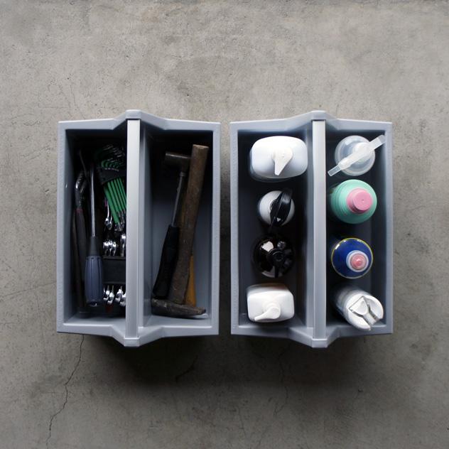 使いたい時にすぐ中身を取り出せる、おしゃれな工具箱
