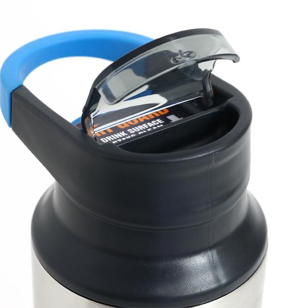 保温性・保冷力に優れてワンタッチで開く、おしゃれな真空断熱のステンレス製ボトル