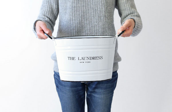 お洗濯が楽しくなる、おしゃれなスチール製バケツ