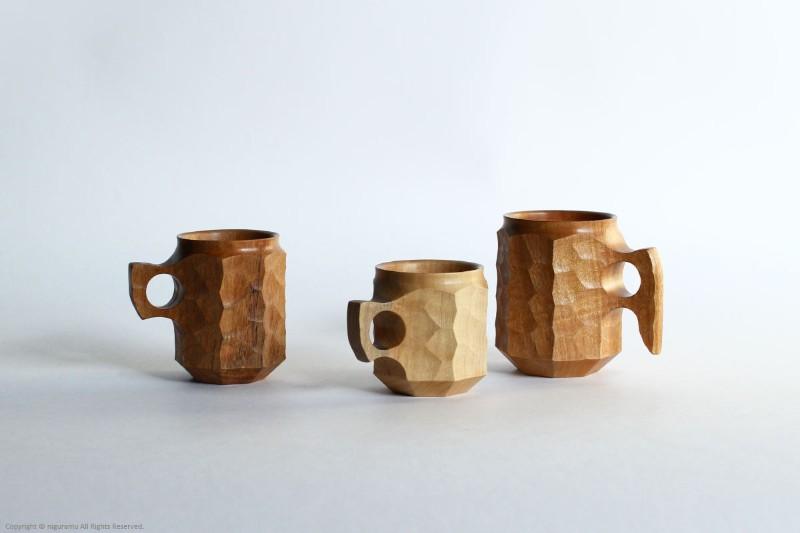 日常使いも楽しめる、おしゃれな木製のカップ