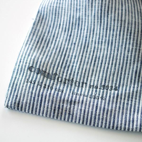 ストライプのおしゃれなリネン100%の掛け布団カバー