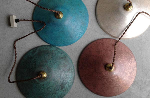 銅で作られた、おしゃれなシンプルなランプシェード