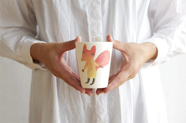竹とコーンスターチで作られた、環境に優しいおしゃれなカップ