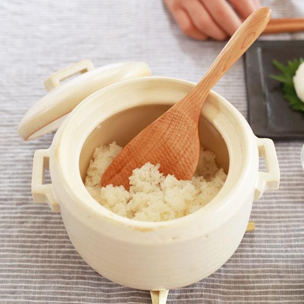 2号炊きの小振りなサイズの、おしゃれなご飯鍋