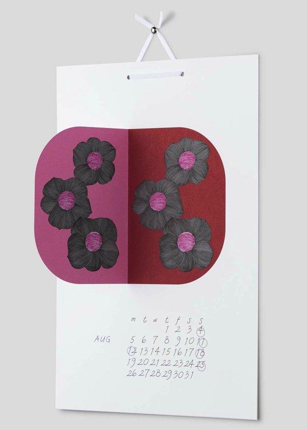 色鮮やかで美しいイラストの世界が広がる、おしゃれな壁掛けカレンダー2019年版