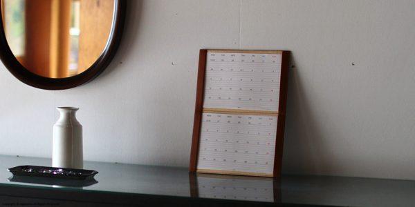 入れ替えながら2ヶ月同時に見れる、おしゃれなカレンダー2019年版