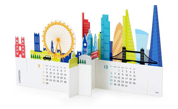 世界の都市をモチーフにした、おしゃれなカレンダー2019年版